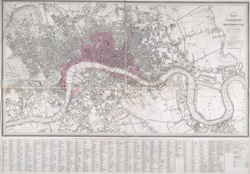 Plan of London and Westminster, with the borough of Soutwark; reduced from the large plan in forty sheets
